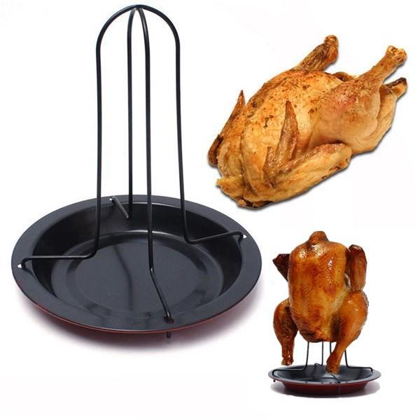 1set корисний курячі качка Держатель стійку гриль стояти випалу для Барбекю ребра Non-Stick вуглецевої сталі