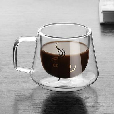 1x Lovely Cat Glass Mug Tea Milk Coffee Cup with Tail Handle New FP