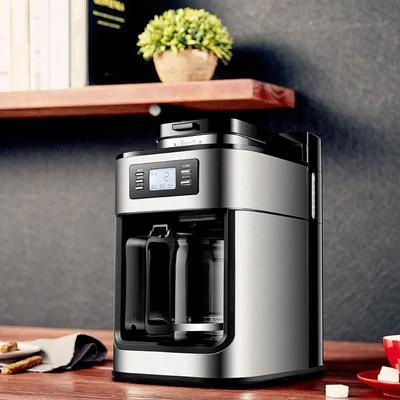 1000W Coffee Maker Machine Home Automatic LED-display Bean Grinder Fresh Grinding American Espresso Coffee Tea Milk