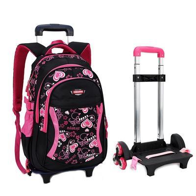 Compre Removível Trolley Mochila Escolar Sacos De Rodas Crianças Saco De Escola Meninos Meninas Sacos De Viagem Criança Mochilas Escolares Crianças