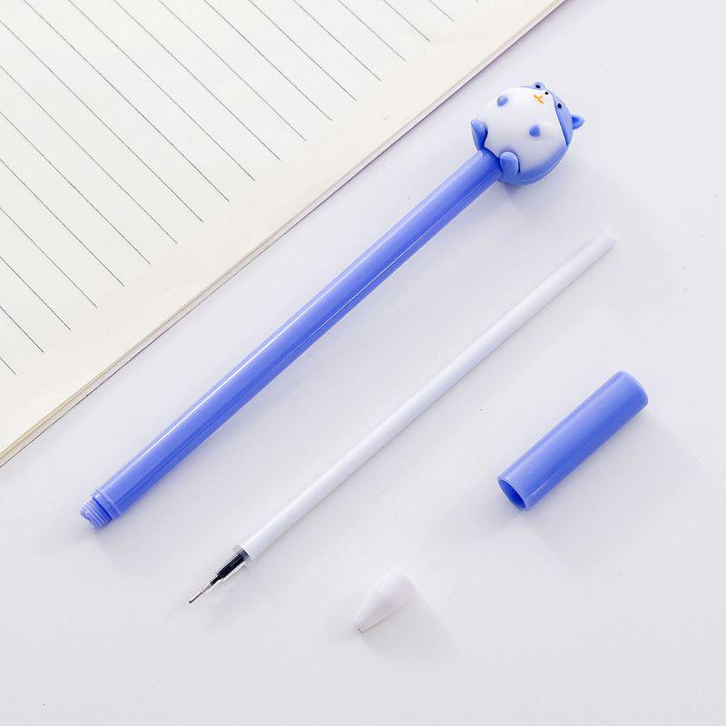 4pcs 0.5mm Kawaii Elephant Gel Pen Signature Neutral Pens Student Writing Tool