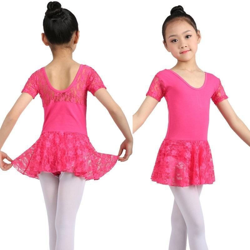 Niños niñas gimnasia Ballet leotardos encaje vestido Tutus ropa de ...