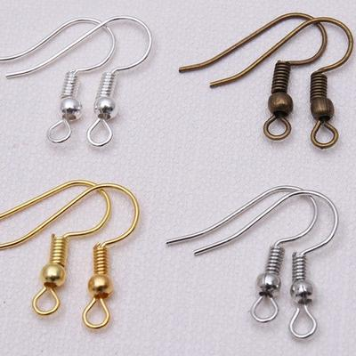 100x Earring Hooks Wires Fish Hooks Gold Silver Plated Jewellery Findings DIY
