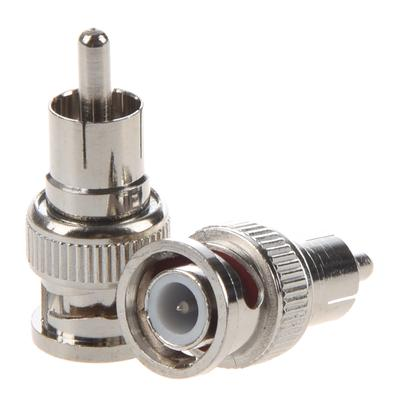 2 Pcs BNC Male to RCA Male RF Coaxial Connector Adapter for