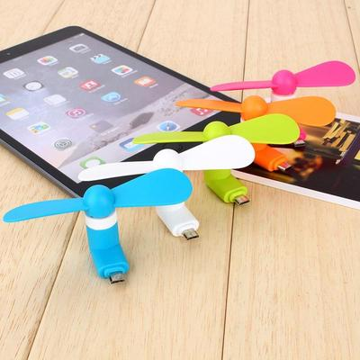 Mini Fan Portable Super Mute USB//Micro Cooler Cooling For Mobile Phone Tablet