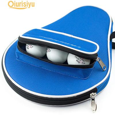 MagiDeal Table Tennis Racket Case Cover Pingpong Paddle Bag With Zipper