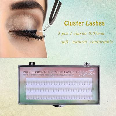 False Eyelashes Beauty Essentials Professional Sale 120 Pcs 4d Wave Individual Mink Lashes 8~13mm 0.07 C Black Faux Mink Hair Eyelashes Extension Soft Natural Long Fake Eye Lashes