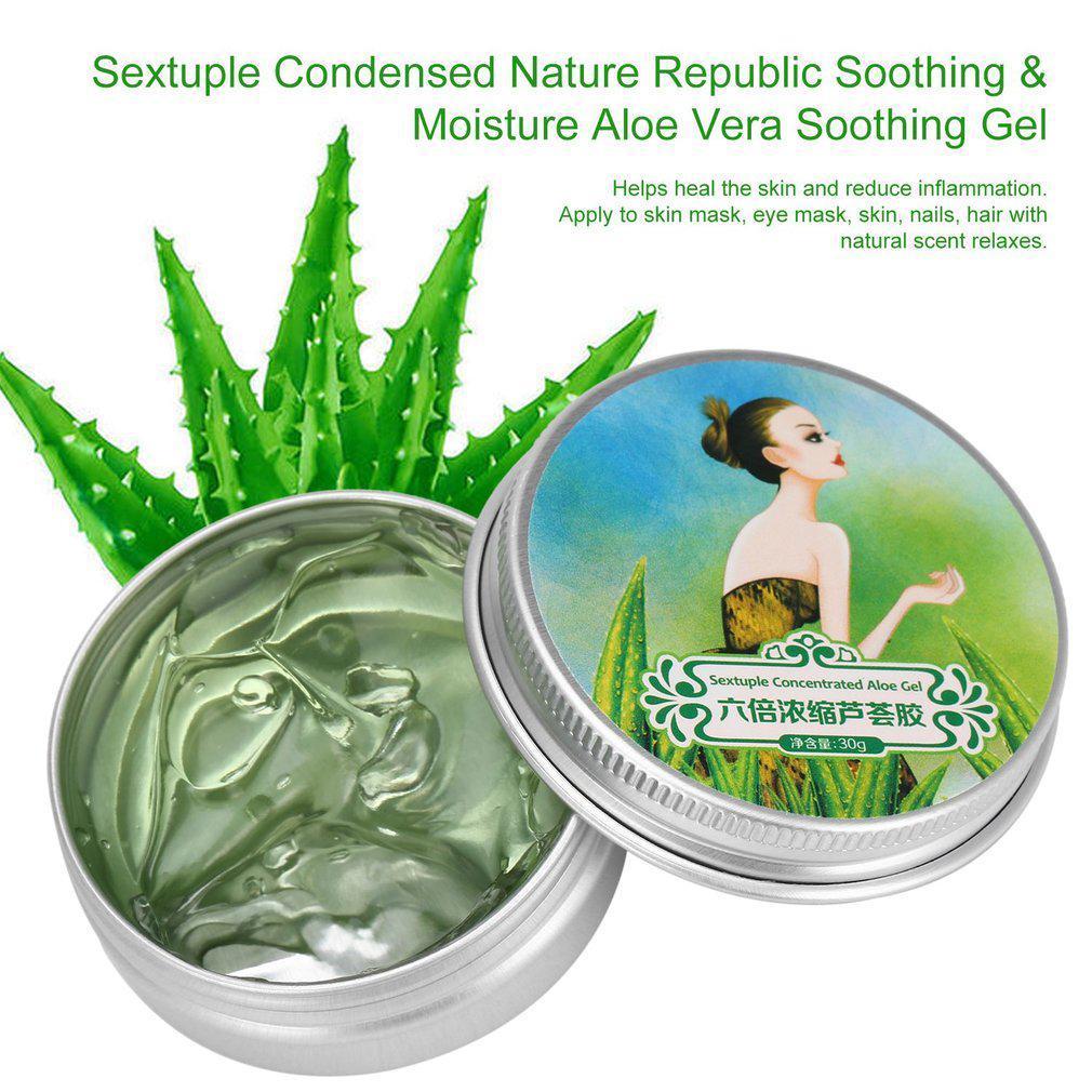 Sextuple Condensed Nature Republic Soothing Moisture Aloe Vera Bioaqua Shooting Gel Original 1 Of 7
