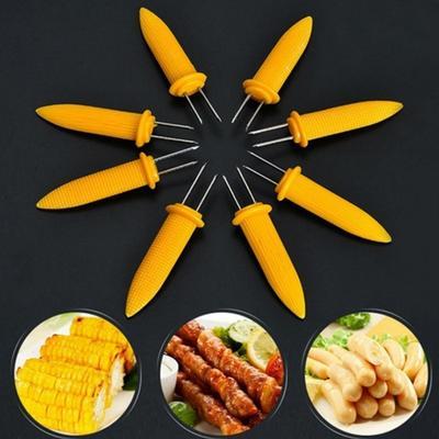 12PCS BBQ Brochettes Epis Ma/ïs Acier Inoxydable Cuisine Fourchettes /à Fruit arooy Brochettes de Ma/ïs