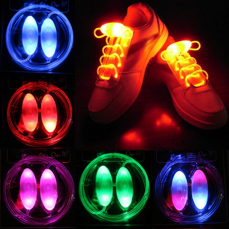 Светодиодные Flash Luminous Light Up Glow Strap Shoelace Shoe Strips for Cool Disco Party Cosplay Costume
