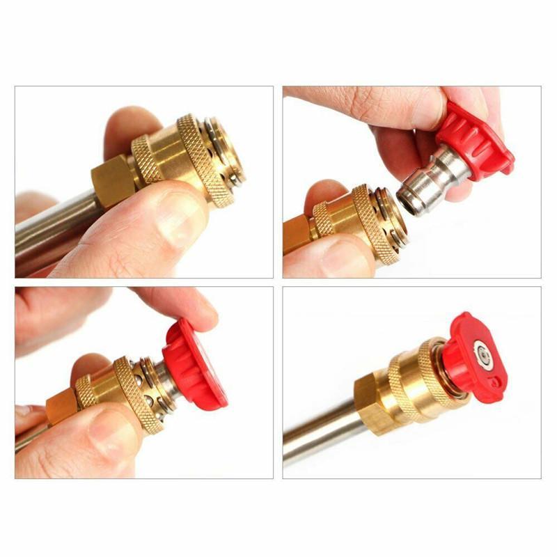 White 1.0//1.2//1.4//1.6//2.0mm High-Pressure Spray Nozzles Tips 40 Degree