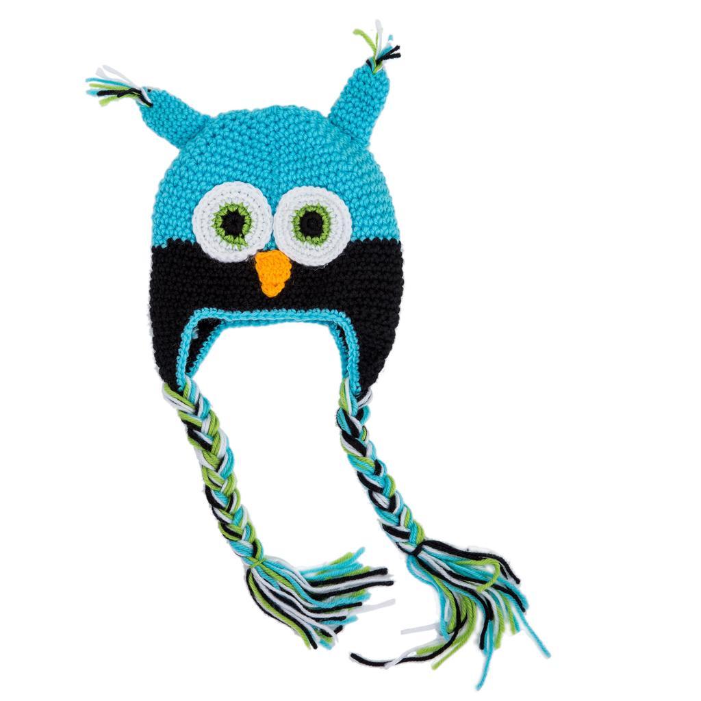 Sodial moda niño bebe niños niñas buhos Crochet lana Knit gorro ...