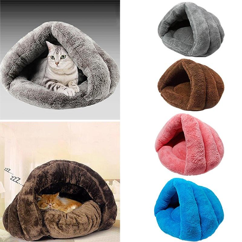 Soft Kitten Cat//Dog House Puppy Cave Pet Sleeping Bed Mat Pad Igloo Nest New