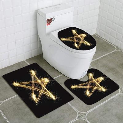 Gold Glitter Wave Sparkles Magic Fairy Dust 3 Piece Bathroom Rugs Set Bath Rug Contour Mat And Toilet Lid Cover Buy At A Low Prices On Joom E Commerce Platform
