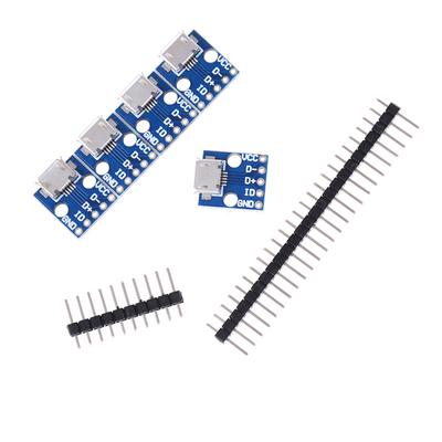 5Pcs Female Micro USB to DIP Adapter Converter 2.54mm PCB Breakout Board R0