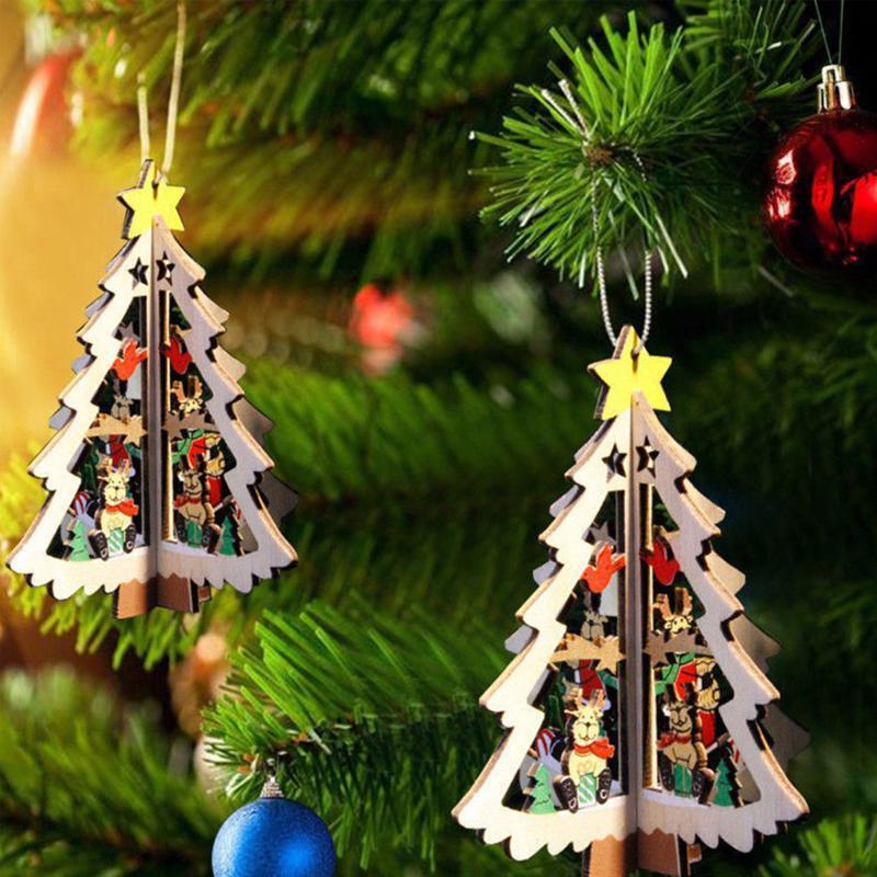 Фестиваль Decrotion Рождественская елка деревянные подвеска фото