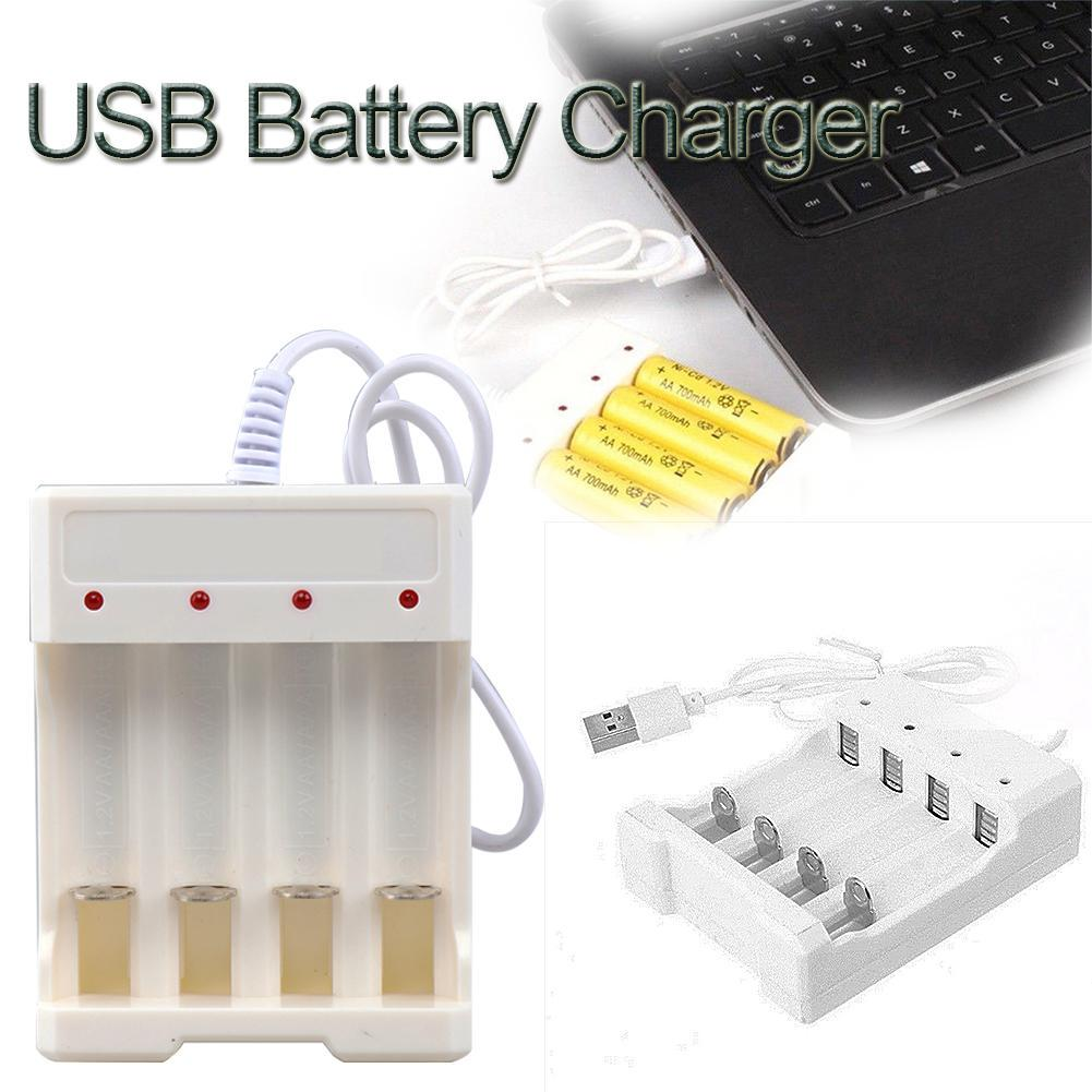 AAAAA Battery Universal Rechargeable Button Lithium Four Slots USB Charger Tester Adapter