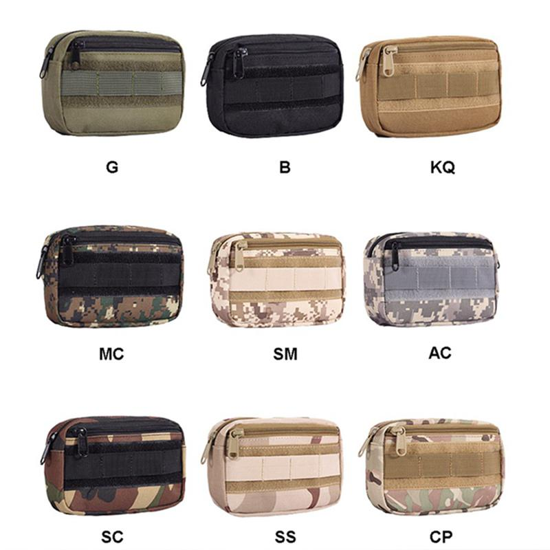 1PC Green Tactical Molle Pouch EDC Pocket Organizer Military Waist Fanny Bag