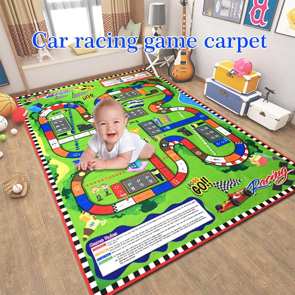 Infant Baby Kids Crawl Playing Fun Car City Traffic Game Play Mat Rug Carpet Toy