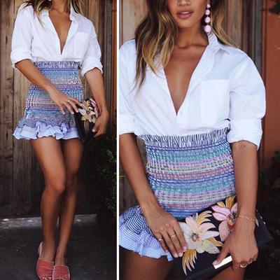 Mujeres damas moda verano playa Casual Floral cintura alta corta Mini falda  nueva. Comprar · -70 % 4bd8017abc00
