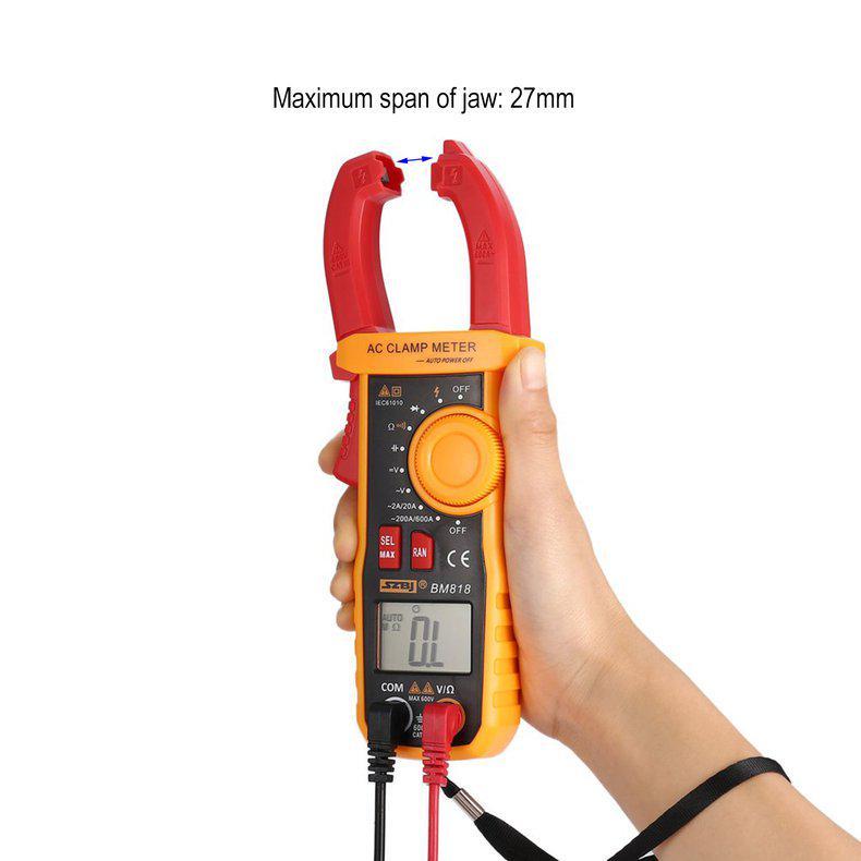LKAIBIN Multimeter UA2018B Black Handheld Digital Clamp Meter DC//AC Voltage Measuring Digital Profesional