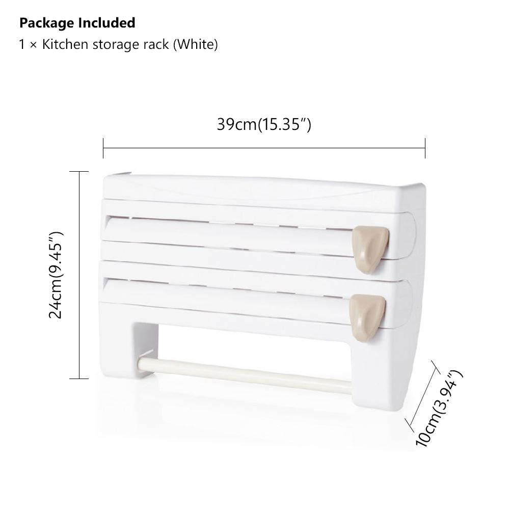 Buy Plastic Wrap Tin Foil Cutter Organizer Kitchen Storage Rack Paper Roll Holder At Affordable Prices Free Shipping Real Reviews With Photos Joom