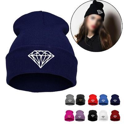 10cd67c4c2 Men Women Cap Diamond Pattern Beanies Winter Wool Hats-buy at a low ...