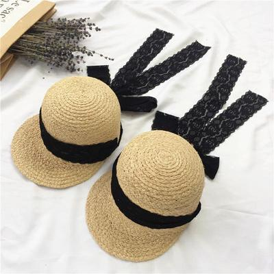 921a4eb3c2d Sweet Style Long Lace Ribbon Big Brimmed Straw Hat Summer Travel Sunscreen  Vacation Beach Cap