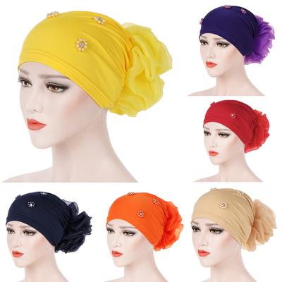 Women Muslim Flower Hair Loss Head Wrap Scarf Hijab Turban Cap Chemo Hat Cover