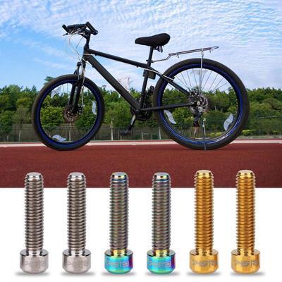 2pcs RISK M6x25mm Titanium Alloy Bicycle Disc Brake Caliper Bolts MTB Bike Screw