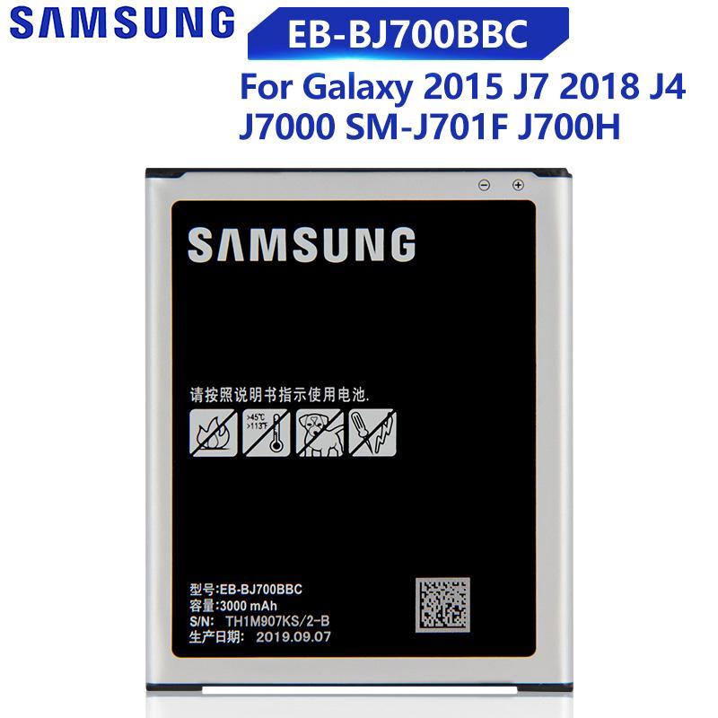 Samsung Оригинальный EB-BJ700BBC Телефонная батарея для Samsung Галактика J7 2015 J7009 J7000 J7008 J700F SM-J700f J4 2018 EB-BJ700CBE Замена батареи 3000mAh – купить по низким ценам в интернет-магазине Joom
