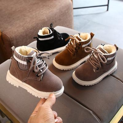 Kids Toddler Infant Baby Girls Boys Warm Lace Up Shoes Short Ankle Boots Booties
