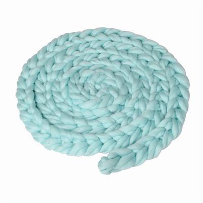 084d8750 nacido tejido a mano de bebé trenza alfombras manta fotografía apoyos  trenzado trenzas (azul claro)
