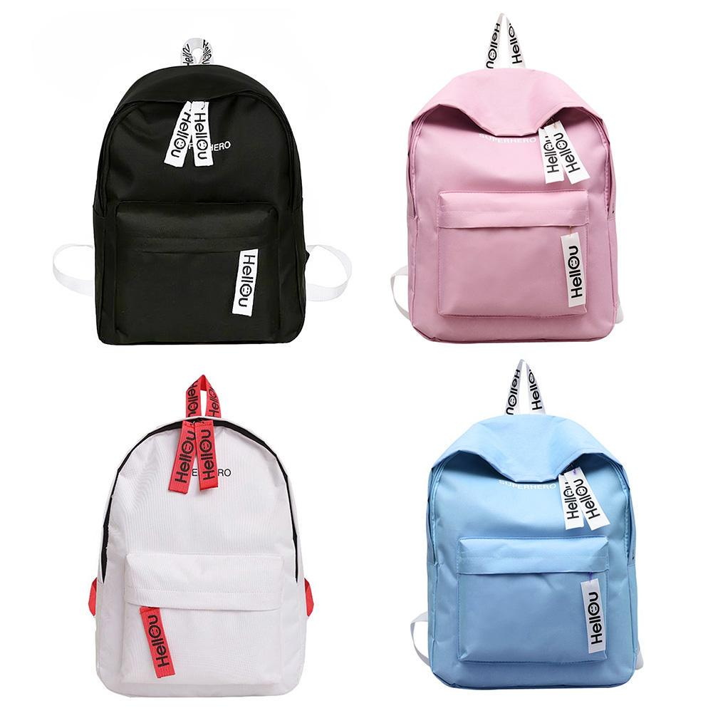 NWKX Women Backpack Casual Ladies Travel Bag Girls School Bag Teenage Preppy Style