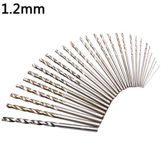 10 Pcs 1.2mm Drill Bit Set Hss Twist Drill Bit Tools Suitable For Drilling Iron