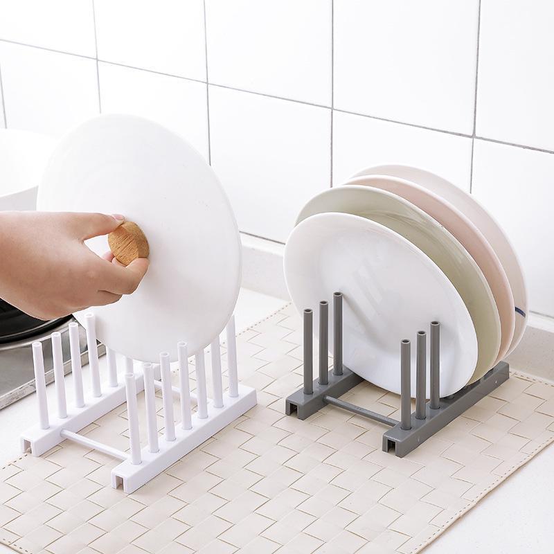 Plastic Dish Rack Plate Lid, Plate Storage Rack
