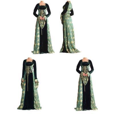 2dda7307f7 Przenośna europejska suknia Princess Dress Queen Dress Klasyczny styl  Halloween Party Odzież Costume