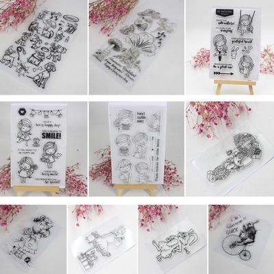 Knitting and Sewing Silicone Rubber Stamp Cling Diary Scrapbooking Card HI