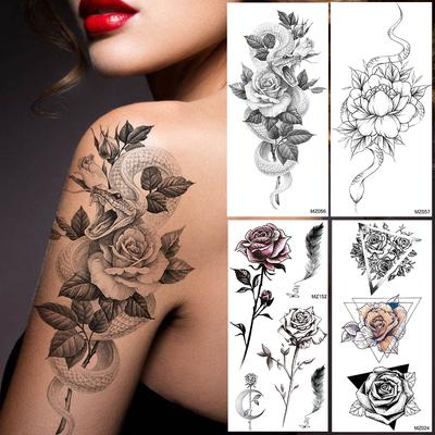 1 Pcs 3d Body Art Diy Stickers Temporary Tattoo Butterfly Flower Feather Sticker Buy At A Low Prices On Joom E Commerce Platform