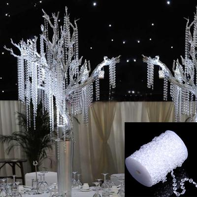 99FT 30M Octagonal Acrylic Crystal Beads DIY Curtain Party Wedding Decor