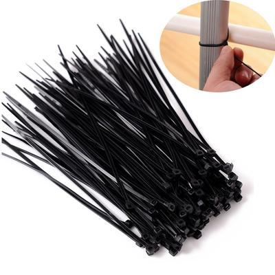 Black 3mm-9mm Width Nylon Plastic Cable Ties Heavy Duty Industrial Wire Zip Ties