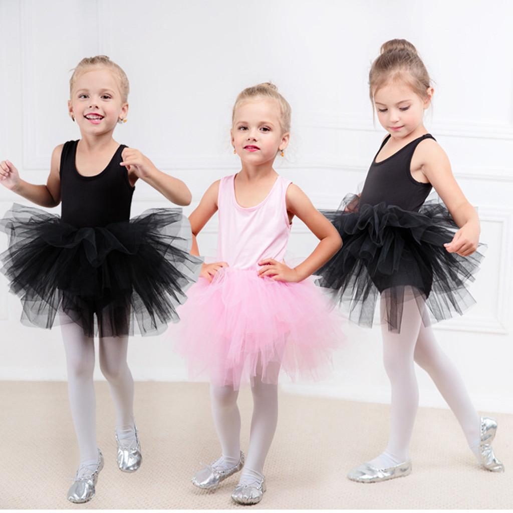 Dancewear Dress Kids Girls Gymastics Dance Tutu Tulle Ballet Training Bodysuit