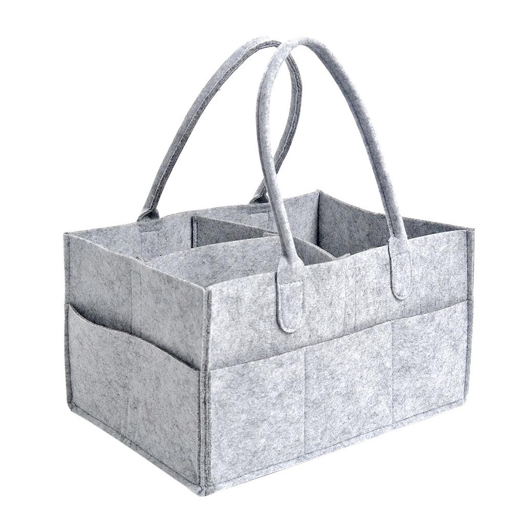 Baby Diaper Wipes Bag Caddy Nursery Storage Bin Infant Nappy Basket Organizer