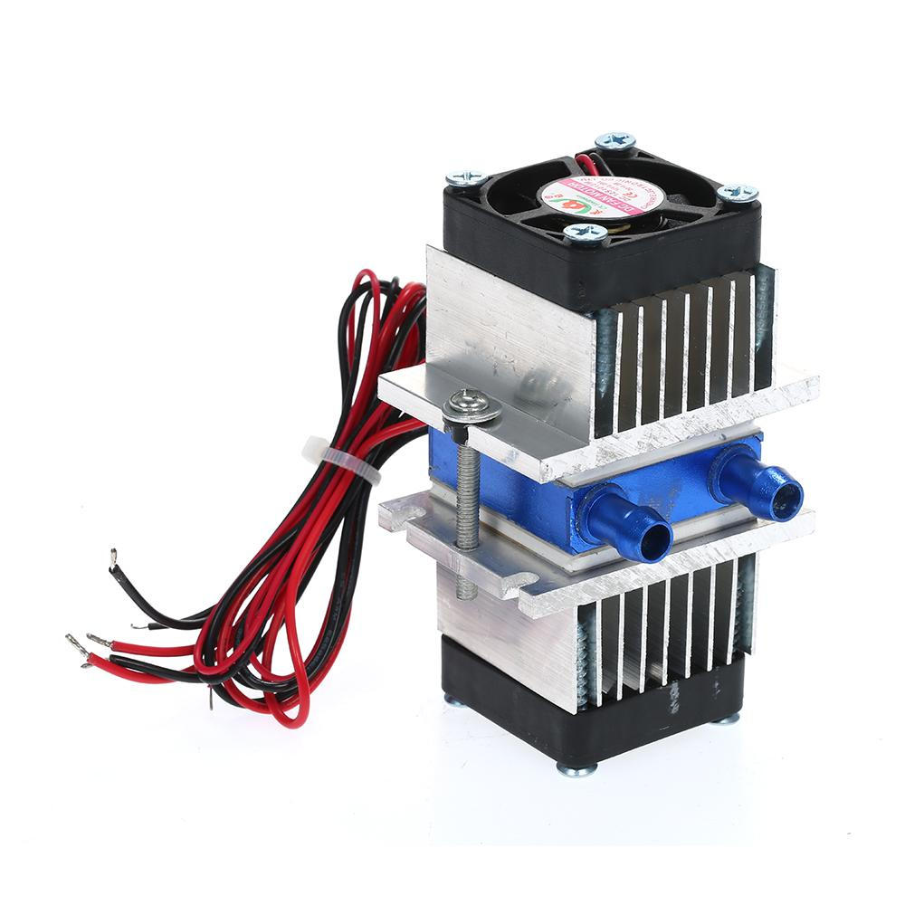 Semiconductor Refrigeration Cooling Device Thermoelectric Cooler DIY Mini Fridge Peltier Plate Module Small Semiconductor Cooler Kit 12v