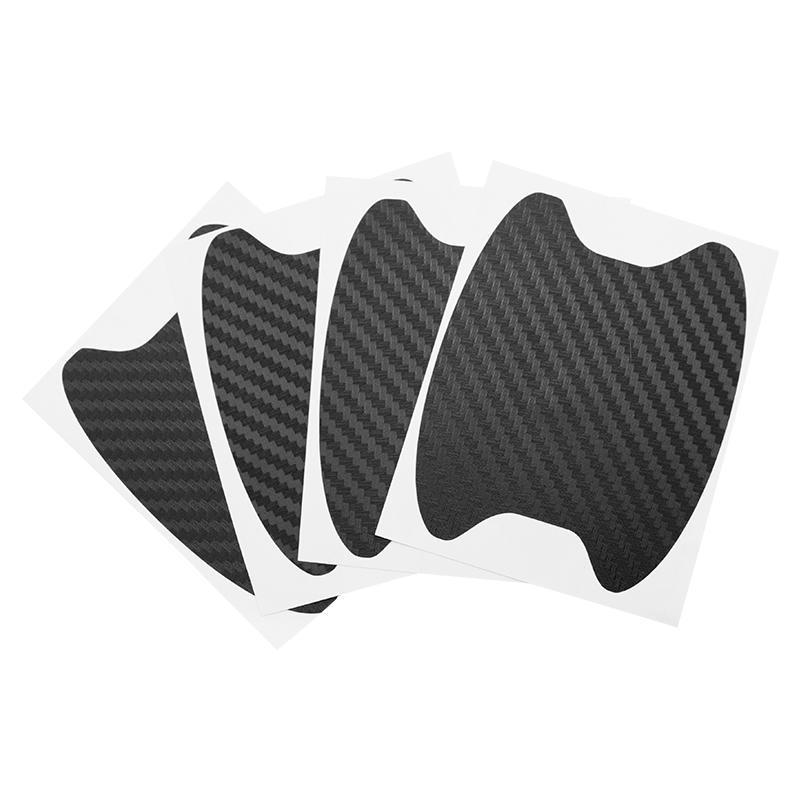 FEIDAjdzf Car Door Cup Handle Paint Scratch Protector Sticker 3D Carbon Fiber Auto Door Handle Scratch Cover Guard Film Car Door Handle Safety Reflective Strips