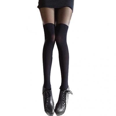 Gilroy Women Cotton Over Knee Thigh-High Opaque Stockings Long Socks