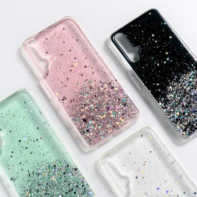 Glitter Case For Huawei P30 Lite Honor 7C 7A 8A 9X Samsung A12 A20 A50 A42 A51 A71 S10e Sequins Bling Phone Cover For Xiaomi Redmi 9C 10X Note7 8T 9