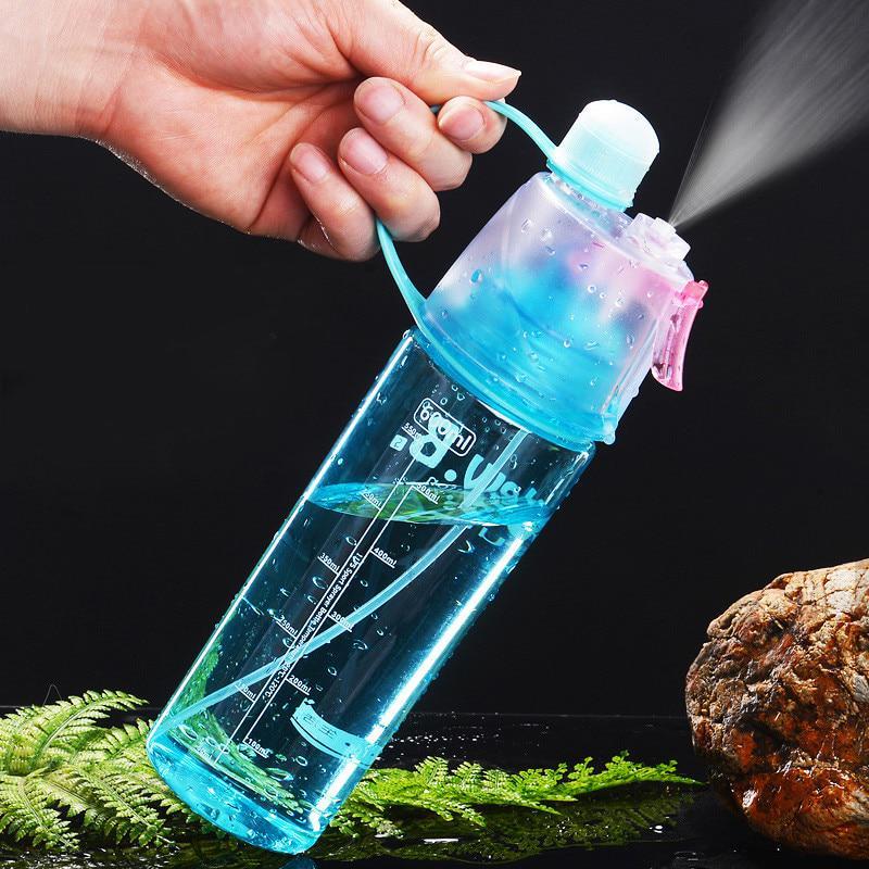 Sport Cycling Mist Straw Drinks Spray Water Gym Bottle Leak-proof Drinking Cup