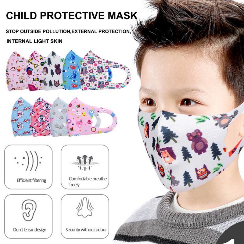 2pcs Hedgehog Pattern Woman Anti Fog Dustproof Face Mouth Mask Protective Masks