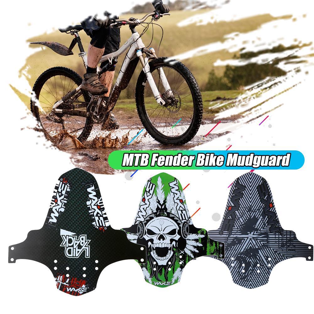 2 PCS WAKE MTB Bike Mudguard Ultrathin Fender Mudguard Bike Front Rear Fender